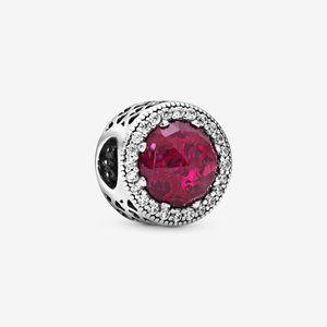 ♉Pandora  Sparkling Cerise Pink Charm